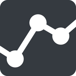 analytics-wide down, wide, solid, square, graph, analytics, chart, analytics-wide free icon 256x256 256x256px