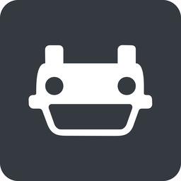 car-front-small down, solid, square, car, front, vehicle, transport, car-front-small free icon 256x256 256x256px