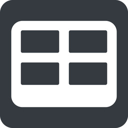table-wide down, wide, solid, square, cell, table, data, grid, row, columns, spreadsheet, table-wide free icon 256x256 256x256px