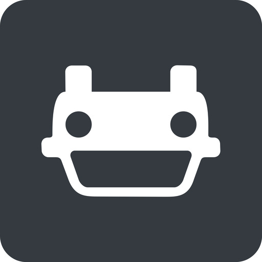 car-front-small down, solid, square, car, front, vehicle, transport, car-front-small free icon 512x512 512x512px