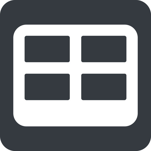 table-wide down, wide, solid, square, cell, table, data, grid, row, columns, spreadsheet, table-wide free icon 512x512 512x512px