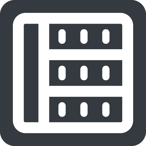 spreadsheet-wide left, wide, solid, square, cell, table, data, grid, row, columns, spreadsheet, spreadsheet-wide free icon 512x512 512x512px