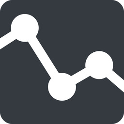 analytics-wide up, wide, solid, square, horizontal, mirror, graph, analytics, chart, analytics-wide free icon 256x256 256x256px