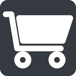 shopping-cart-solid wide, solid, square, horizontal, mirror, shopping, cart, shop, buy, trolley, shopping-cart-solid free icon 256x256 256x256px
