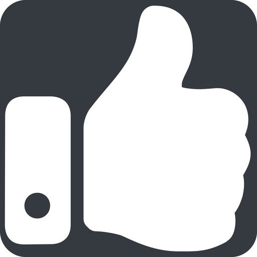 thumb-solid up, wide, solid, square, horizontal, mirror, rate, rating, thumb, like, dislike, thumbs, thump-up, thumb-down, thumb-solid free icon 512x512 512x512px