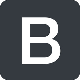 bootstrap-b solid, square, logo, brand, bootstrap, b, letter, bootstrap-b free icon 256x256 256x256px