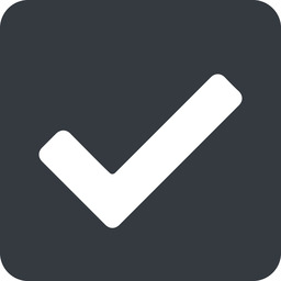 check wide, solid, square, check, ok, valid, checked, done, confirm, confirmed, success, yes free icon 256x256 256x256px