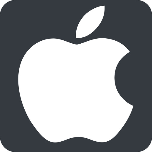 apple wide, solid, square, logo, brand, apple, macintosh, itunes, ipad, iphone, ipod free icon 512x512 512x512px