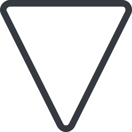 triangle triangle, line, down, normal free icon 512x512 512x512px