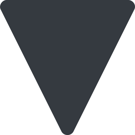 triangle triangle, thin, down, solid free icon 512x512 512x512px