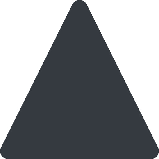 triangle triangle, thin, up, solid free icon 512x512 512x512px