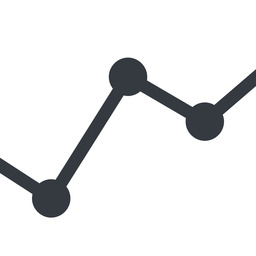 analytics line, down, normal, graph, analytics, chart free icon 256x256 256x256px