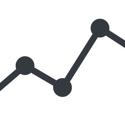 analytics line, up, normal, graph, analytics, chart free icon 256x256 256x256px
