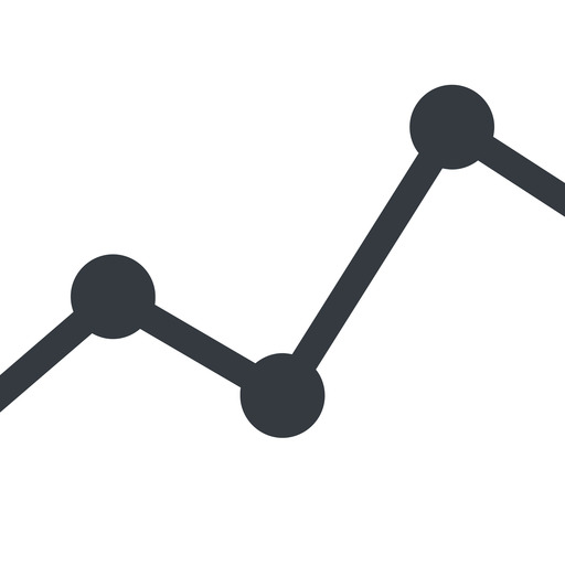 analytics line, up, normal, graph, analytics, chart free icon 512x512 512x512px