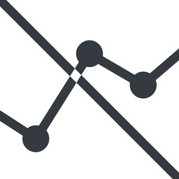 analytics line, down, normal, graph, analytics, chart, prohibited free icon 256x256 256x256px