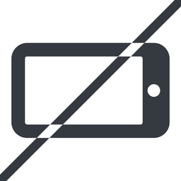 smartphone-solid line, left, normal, prohibited, iphone, phone, mobile, android, gsm, smartphone, cell, smartphone-solid free icon 256x256 256x256px