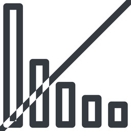 bar-chart line, up, normal, horizontal, mirror, graph, chart, prohibited, statistics, antenna, mobile, signal, bars, level, strength, bar, bar-chart free icon 256x256 256x256px