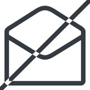 open-envelope-alt line, normal, horizontal, mirror, envelope, mail, message, email, prohibited, contact, open, read, open-envelope, open-envelope-alt free icon 128x128 128x128px
