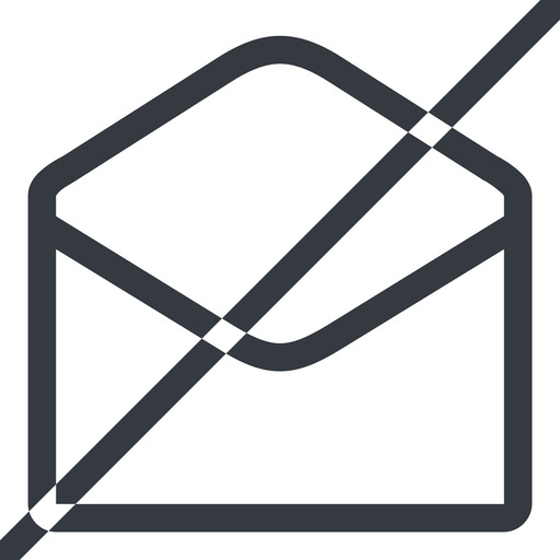 open-envelope-alt line, normal, horizontal, mirror, envelope, mail, message, email, prohibited, contact, open, read, open-envelope, open-envelope-alt free icon 512x512 512x512px