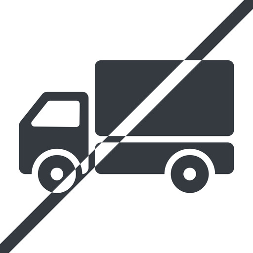 truck-solid line, normal, solid, horizontal, mirror, prohibited, truck, delivery, van, lorry, truck-solid free icon 512x512 512x512px