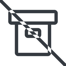 archive line, normal, prohibited, archive, back-up free icon 256x256 256x256px