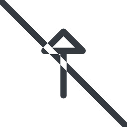 arrow line, up, normal, arrow, prohibited free icon 256x256 256x256px