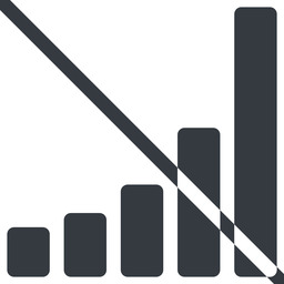 bar-chart-solid line, up, normal, graph, chart, prohibited, statistics, antenna, mobile, signal, bars, level, strength, bar, bar-chart-solid free icon 256x256 256x256px