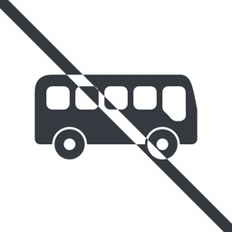 bus-side line, normal, wide, car, vehicle, transport, prohibited, bus, side, bus-side free icon 256x256 256x256px