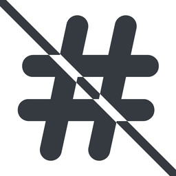 hashtag-solid line, normal, solid, social, prohibited, hashtag, hashtag-solid free icon 256x256 256x256px