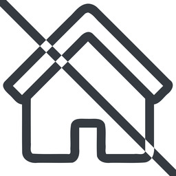 home line, normal, home, house, prohibited free icon 256x256 256x256px