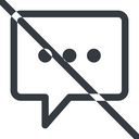 comment-square-dots line, normal, square, dots, message, prohibited, chat, comment, speech, dialogue, blablabla, blabla, bubbles, comment-square-dots free icon 128x128 128x128px
