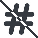 hashtag-solid line, normal, solid, social, prohibited, hashtag, hashtag-solid free icon 128x128 128x128px