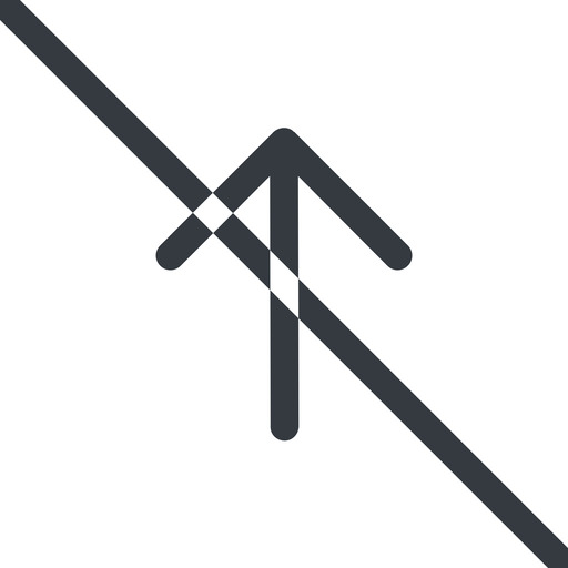 arrow-simple line, up, arrow, direction, prohibited, arrow-simple free icon 512x512 512x512px