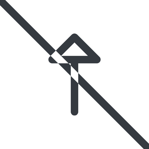 arrow line, up, normal, arrow, prohibited free icon 512x512 512x512px
