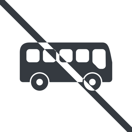bus-side line, normal, wide, car, vehicle, transport, prohibited, bus, side, bus-side free icon 512x512 512x512px
