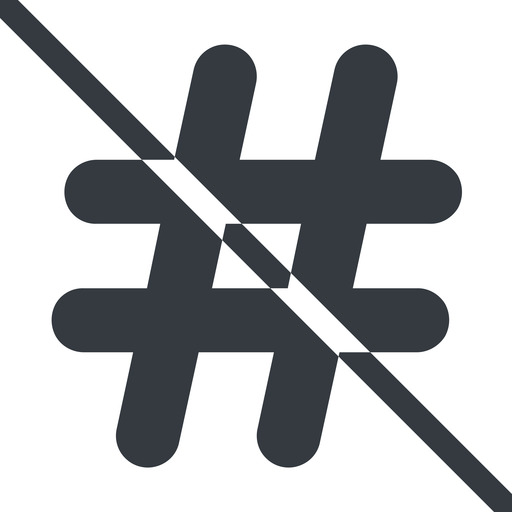hashtag-solid line, normal, solid, social, prohibited, hashtag, hashtag-solid free icon 512x512 512x512px