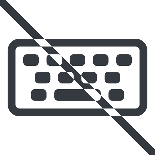 keyboard line, up, normal, prohibited, desktop, keyboard, keypad, typing free icon 512x512 512x512px
