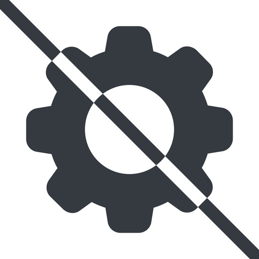 setting-solid line, normal, setting, config, gear, wheel, settings, cog, prohibited, setting-solid free icon 512x512 512x512px
