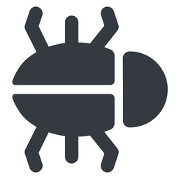 bug-solid right, normal, solid, animal, bug, debug, debugging, insect, bug-solid free icon 256x256 256x256px