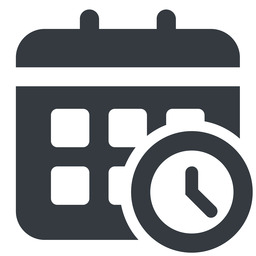 calendar-clock-solid normal, solid, horizontal, mirror, date, schedule, event, timetable, calendar, clock, time, meeting, hour, minute, hours, minutes, deadline, calendar-clock, calendar-clock-solid free icon 256x256 256x256px