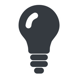 bulb-solid up, normal, solid, light, bulb, brainstorming, creativity, idea, tip, lamp, bulb-solid free icon 256x256 256x256px
