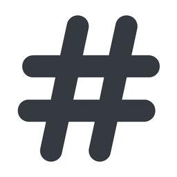 hashtag-solid normal, solid, social, hashtag, hashtag-solid free icon 256x256 256x256px