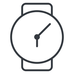 watch-thin thin, down, time, hour, minute, hours, minutes, watch, watch-thin free icon 256x256 256x256px