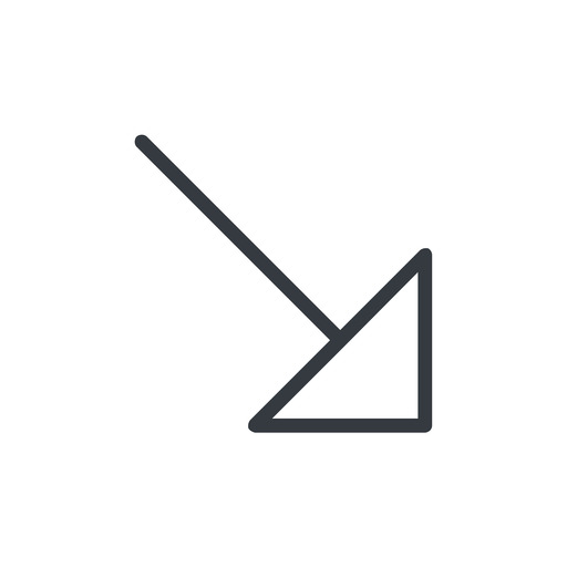 arrow-corner-thin thin, line, right, arrow, corner, arrow-corner-thin free icon 512x512 512x512px