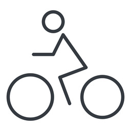 bicycle-thin thin, line, horizontal, mirror, vehicle, riding, bicycle, bike, cycle, cycling, bicycle-thin free icon 256x256 256x256px