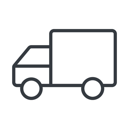 truck-thin thin, line, solid, horizontal, mirror, truck, delivery, van, lorry, truck-thin free icon 512x512 512x512px