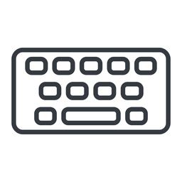 keyboard-thin thin, line, up, desktop, keyboard, keypad, typing, keyboard-thin free icon 256x256 256x256px