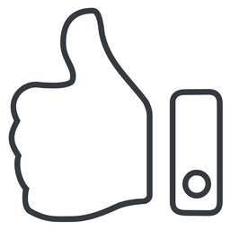 thumb-thin line, up, rate, rating, thumb, like, dislike, thumbs, thump-up, thumb-down, thumb-thin, hand free icon 256x256 256x256px