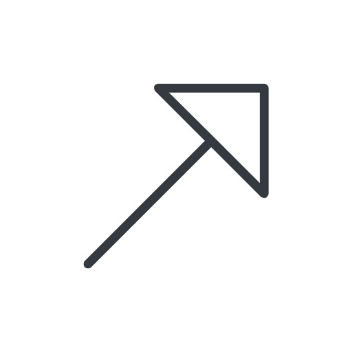 arrow-corner-thin thin, line, up, arrow, corner, arrow-corner-thin free icon 512x512 512x512px