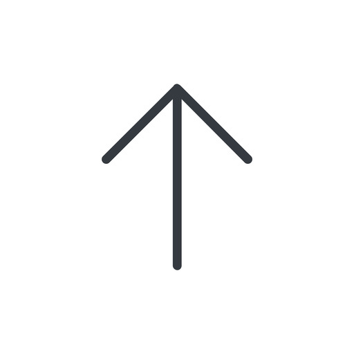 arrow-simple-thin thin, line, up, arrow, direction, arrow-simple-thin free icon 512x512 512x512px